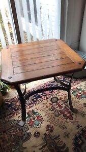 Wood/iron end tables