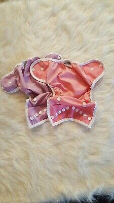 EUC Thirsties Cloth Diaper Cover Lot Snap Size One