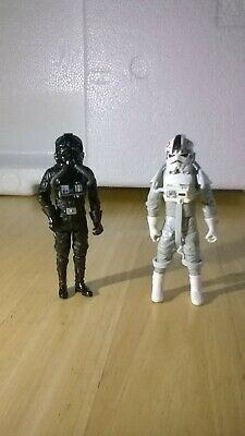 "Star Wars: The Saga Collection 3.75"" Imperial TIE Pilot and AT-AT Driver."