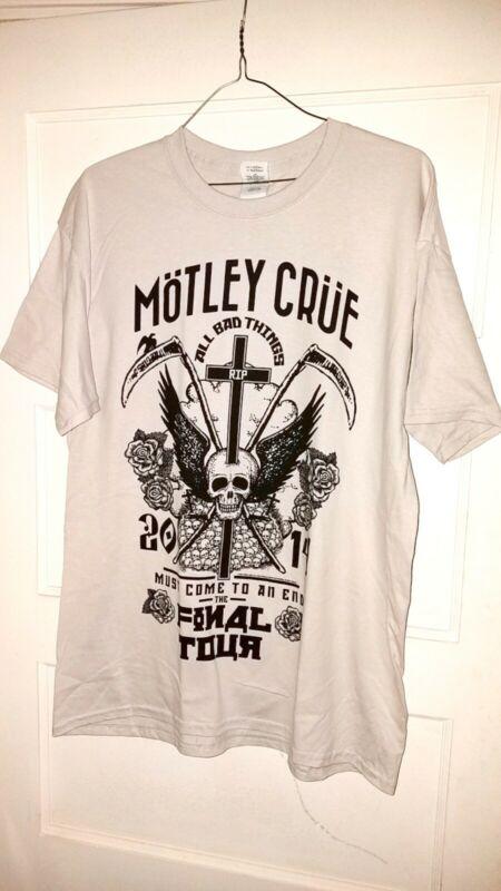MOTLEY CRUE T-Shirt officia 2014 concert Tour apparel Mens XL new old stock