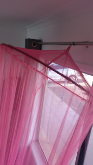 Hot Pink Mosquito bed Canopy