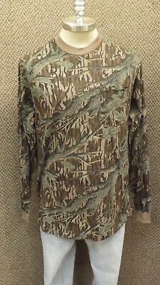 295426f214aed Vtg NEW Mossy Oak Original Tree Stand Camo Long Sleeve Pocket T-Shirt USA  Made L
