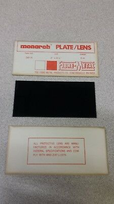 Vintage Welding Filter Plate Lens 2 X 4-14 By Fibre-metal Monarch Shade 6 H
