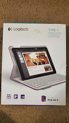 Logitech 920-006912 Type+ Case with Integrated Keyboard for iPad Air 2 - Purple