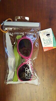 Pink/Green Real Kids Explorer Sunglasses Adjustable Strap Toddler KID AGE 4+ (Kids Sunglasses With Strap)