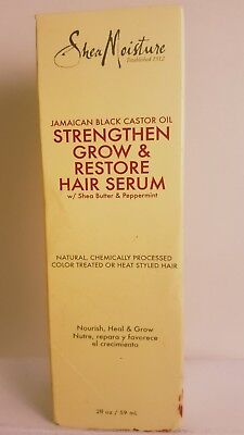 Moisturizing Black Hair - Shea Moisture Jamaican Black Castor Oil Strengthen Grow & Restorative Hair Serum