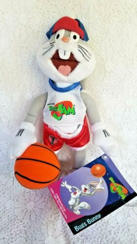 "WB Space Jam Basketball Bugs Bunny  9"" Plush Toy 1996  McDonald"
