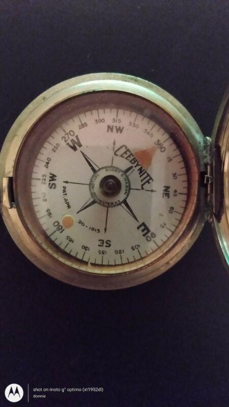 Vintage WWI Ceebynite Pocket Compass