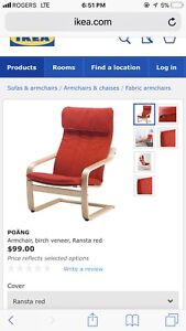 IKEA poang red chair