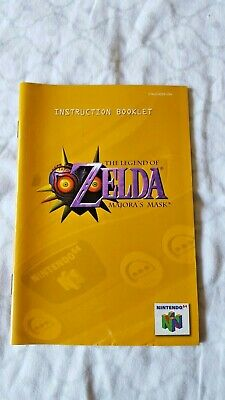 Nintendo 64 Instruction Booklet Original The Legend of Zelda Majora's Mask comprar usado  Enviando para Brazil