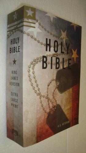 Religion HOLY BIBLE King James Version Extra Large PRINT Military U.S. Veterans