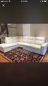 White Bonded leather sofa - almost new ...