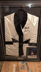 SIGNED BOXING ROBE OF MUHAMMAD ALI WITH COAs
