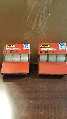 Scotch Transparent Tape 2 Pack 6 Total