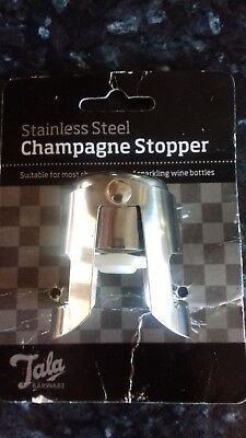 NEW CHAMPAGNE/ PROSSECCO STOPPER STAINLESS STEEL