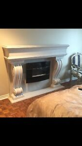 Sale save huge * stone cast fireplace mantels