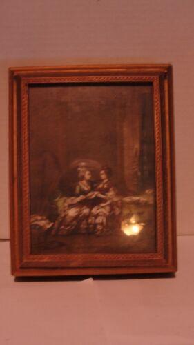 VINTAGE ARTWOOD WOODEN VICTORIAN JEWELRY BOX W/ MIRROR