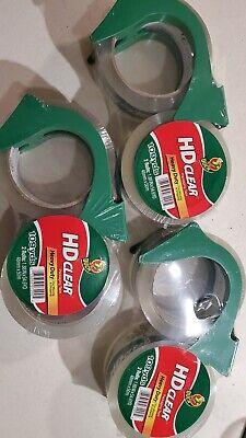 Duck Hd Clear Heavy-duty Packaging Tape 1.88 X 54.6 Yd Double Pack 3 Qty