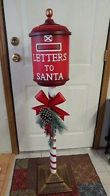 New Santa's North Pole Red 4 Ft Mailbox Christmas Letter Postbox Chicago Pick - Santa Mailbox