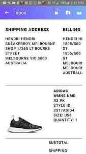 NMD R2 black New Primeknit size US6 Docklands Melbourne City Preview