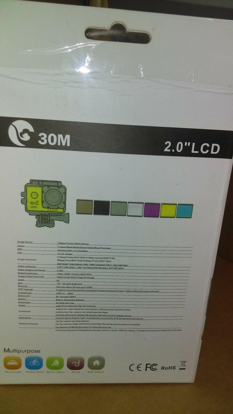 Lightdow LD6000 WiFi 1080P HD DV Sports Action Camera Kit Ne