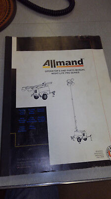 Allmand Light Tower Operator And Parts Manual