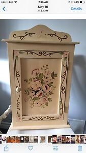 HAND PAINTED HANGING WALL CABINET