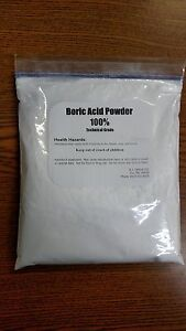 BORIC ACID POWDER  VERY FINE - 1 lb. Package  SAME DAY SHIPPING