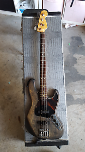 Fender Jazz Style Custom Bass with EMG Active Pickups Silkstone Ipswich City Preview