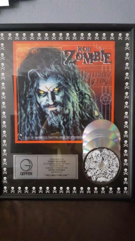 "ROB ZOMBIE Geffen Award ""HELLBILLY DELUXE"" for sales 3,000,000 copies"