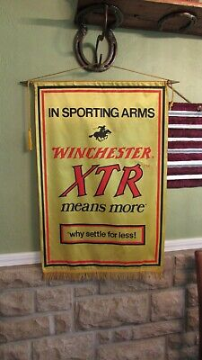 Vintage WINCHESTER XTR Advertising Banner / Adverting Sign by Hollywood Banners