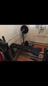 Bench press olympiques/exerciseur body solide