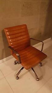 Office Chair Freedom Astor Tan leather Edgewater Joondalup Area Preview