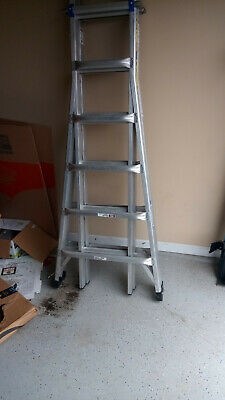 Werner 26 Ft. Aluminum Telescoping Multi-position Ladder For Pickup Only...