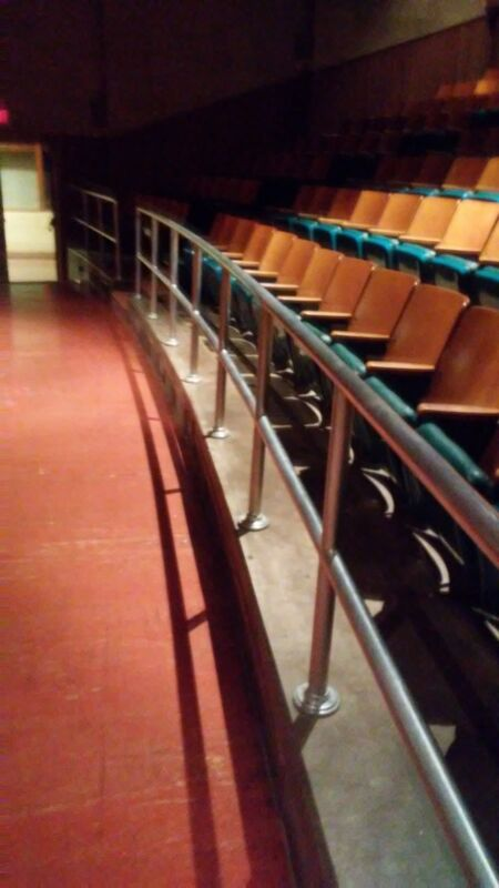 Vintage Mid-Century Modern Aluminum Theater Balcony Railings Architectural