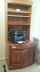 Wooden Desk+Shelves/Cupboard St Ives Chase Ku-ring-gai Area Preview