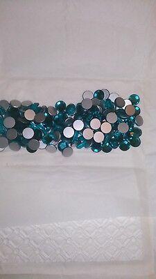 24 pierres de strass swarovski SS42 BLUE ZIRCON N°4