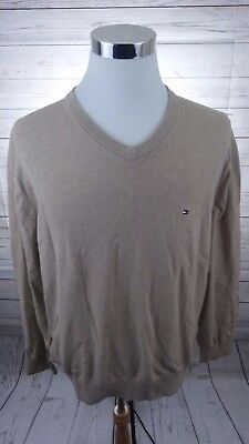 Tommy Hilfiger Mens Tan Signature V-Neck Pullover Sweater XXL