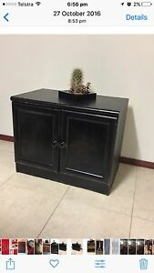 Black TV cabinet with Glass Top Canning Vale Canning Area Preview