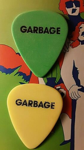 GARBAGE (2) guitar picks Steve Marker & Duke Erikson