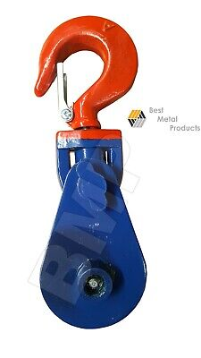 2 Ton Snatch Block Whook Wclip Crane 38 Wire Rope Tow 38 Hook Lift 0900155