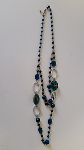 Dark teal beaded necklace Meadowbrook Logan Area Preview