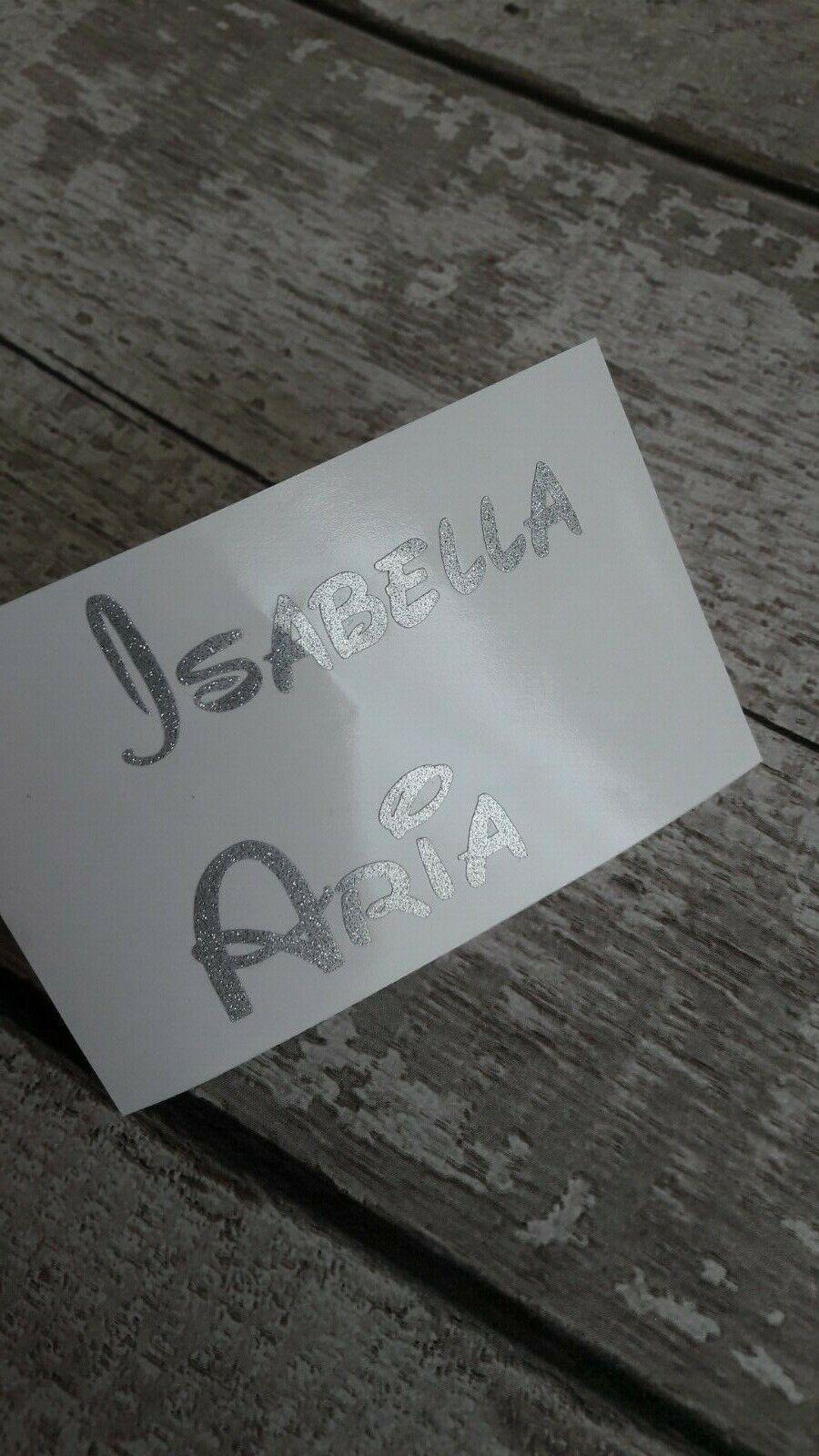 Disney Personalised Name Vinyl stickers  Wine glass Bauble Hen Do Xmas Bottle 7