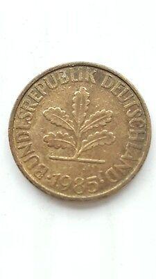 1985 GERMANY 1 PFENNIG COIN