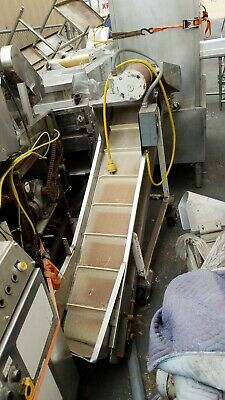 Ss And Painted Steel Incline Conveyor 11-38 W Belt X 78 Long X Low 16 Fill