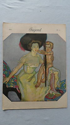 Die Münchner JUGEND-Illustrierte Wochenzeitschrift-Heft-Nr.6-1910-Paul Rieth