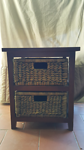 Two bedside tables with rattan draws Canterbury Canterbury Area Preview