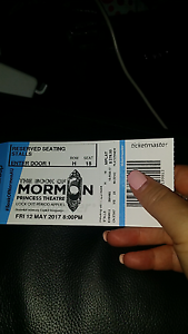 2 Book of Mormon tickets BEST SEATS Camberwell Boroondara Area Preview