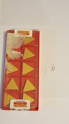 Sandvik Lathe Turning Insert - Triangle - Tpkn 22 04 Pd L Tpk 43p2 L 4030 - 10x