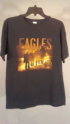 EAGLES Long Road Out of Eden Tour 2009 Concert T-shirt Double Sided L Black Tee for sale  Shipping to Ireland